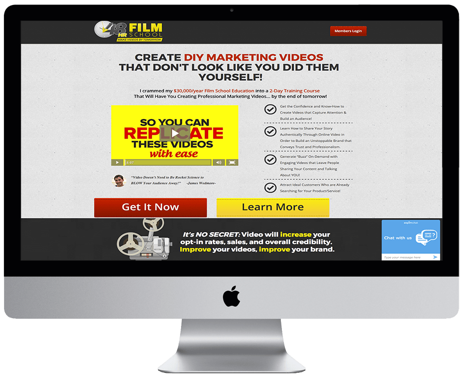 James Wedmore – 48hrfilmschool.net Sales page Oct 2015