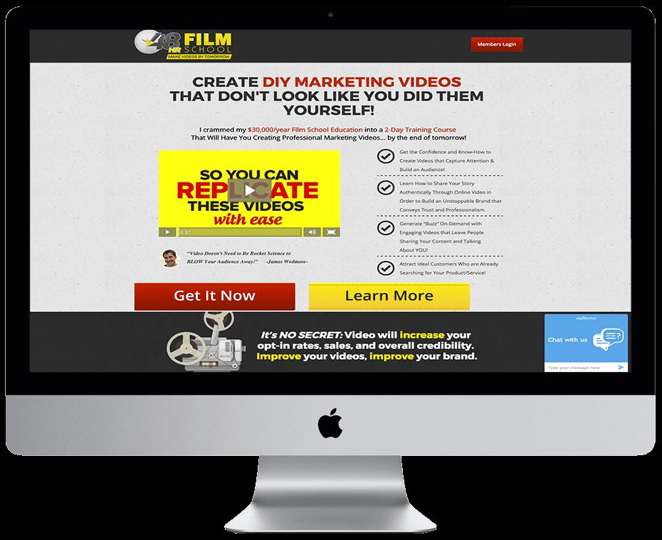 James Wedmore – 48hrfilmschool.net Sales page Oct 2015