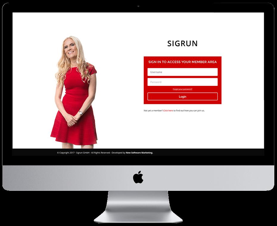 Sigrun.com – AcccessAlly + Infusionsoft