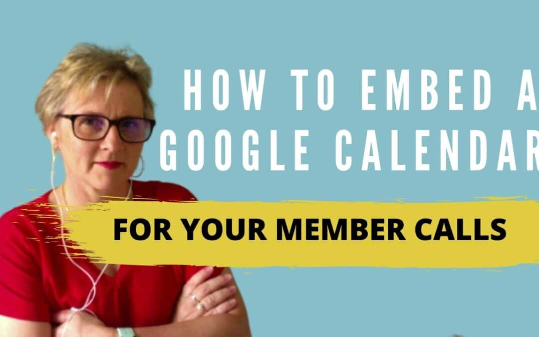 How to Embed a Calendar inside your memberships